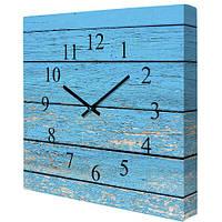 Часы настенные на холсте, Доски (CH_P_14I007)