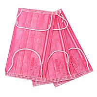 Маски медицинские одноразовые розовые из нетканого материала, 50 шт.