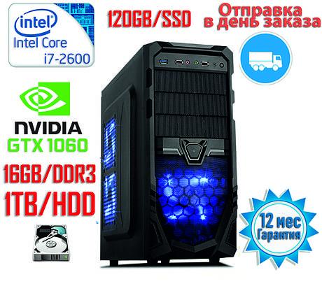 Игровой компьютер Intel Core i7 / DDR3-16GB / SSD-120GB / HDD-1TB / GeForce GTX1060 3GB, фото 2