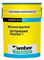 Битумная гидроизоляционная шпаклевка Вебер.Тек 911 Н (Пластикол 1) / WEBER.TEC 911N (Plastikol 1) уп.6 кг
