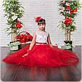 Яркое бальное платье в пол Жасмин красный (32-34), фото 3