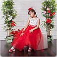 Яркое бальное платье в пол Жасмин красный (32-34), фото 4