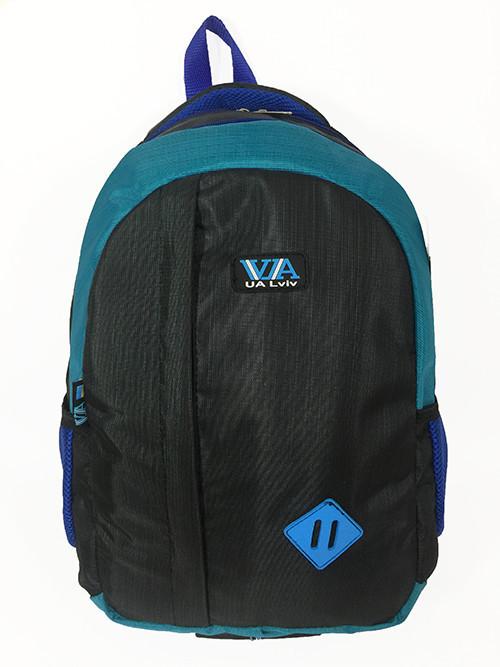 Рюкзак школьный VA R-69-121, черный-бирюза