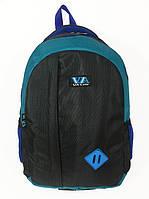 Рюкзак школьный VA R-69-121, черный-бирюза, фото 1