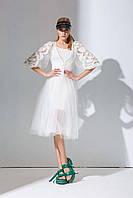 Стильное белое  платье Amodediosa