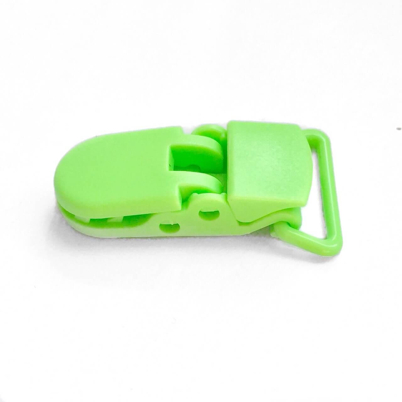Клипса пластиковая для пустышки, салатовая