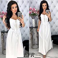 Женское легкое летнее платье в пол (М 2731) Цвета: черный, белый, ментол ., фото 1