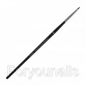 Кисть для гелевого моделирования №2/E (нейлон; деревянная черная ручка) Kodi