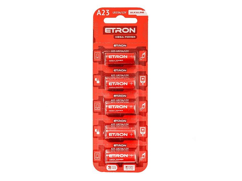 Батарейка (A23-C5 12V) Алкалиновая ETRON Alkaline