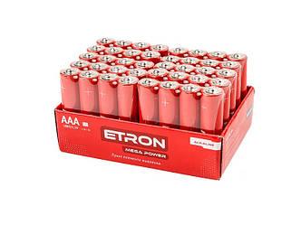 Батарейка (ПЛІВКА) AAA-LR03-40S Алкалінова ETRON Alkaline