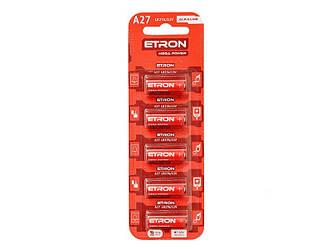 Батарейка (A27-C5 12V) Алкалиновая ETRON Alkaline