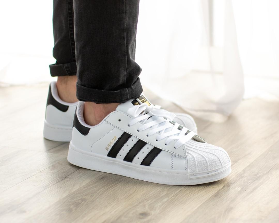 huge selection of 15b82 d332c Мужские кроссовки в стиле Adidas Superstar (41, 42, 43, 44, 45 размеры)