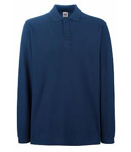Мужская футболка поло с длинным рукавом S Темно-Синий