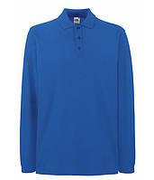 Мужская футболка поло с длинным рукавом XL Ярко-Синий