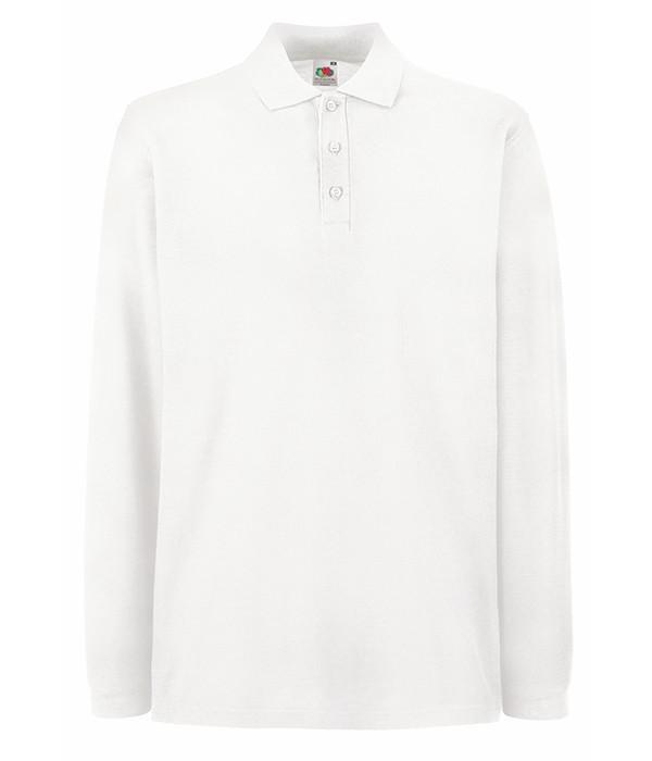 Мужская футболка поло с длинным рукавом 2XL Белый