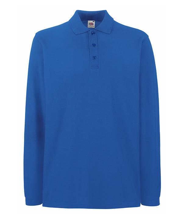 Мужская футболка поло с длинным рукавом 2XL Ярко-Синий