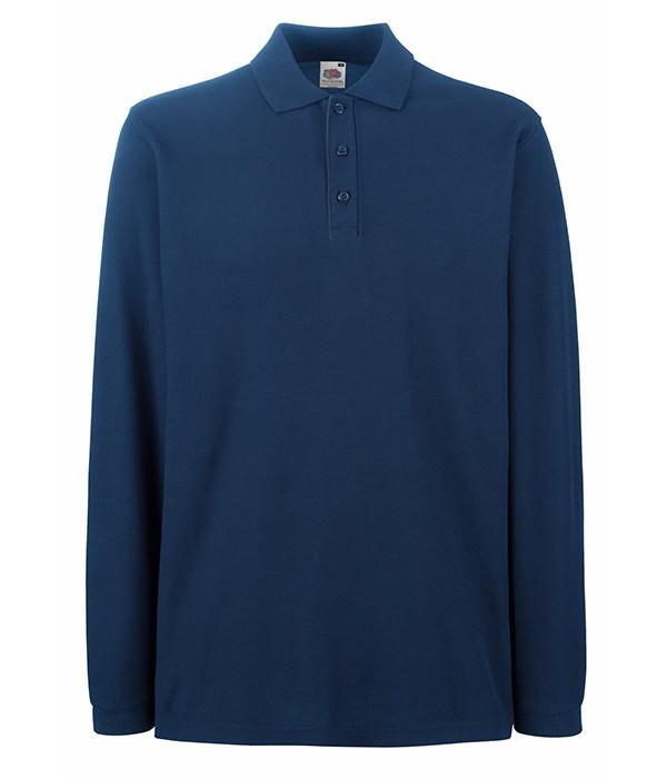 Мужская футболка поло с длинным рукавом 3XL Темно-Синий