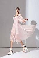 Стильное розовое  платье Amodediosa