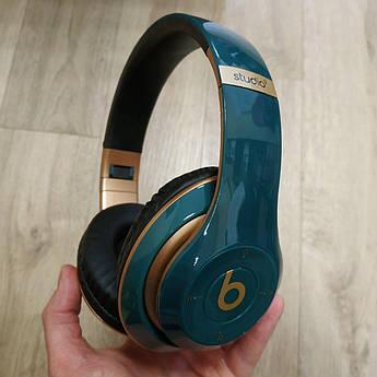 Накладні бездротові Bluetooth-навушники Beats Studio 3 by Dr. Dre Wireless бірюзові