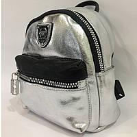 Женский рюкзак 9331, серебряный, фото 1