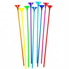 Палочки для воздушных шаров с насадкой разноцветные