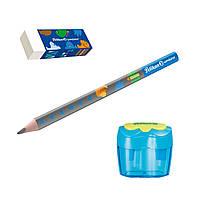 Набор для обучения письму Pelikan Combino Blue карандаш + ластик + точилка, голубой