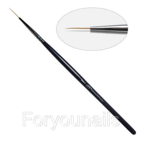 2D. Кисть для дизайна круглая 000-s Pnb, нейлон/Nail Art Brush round 000-s, nylon