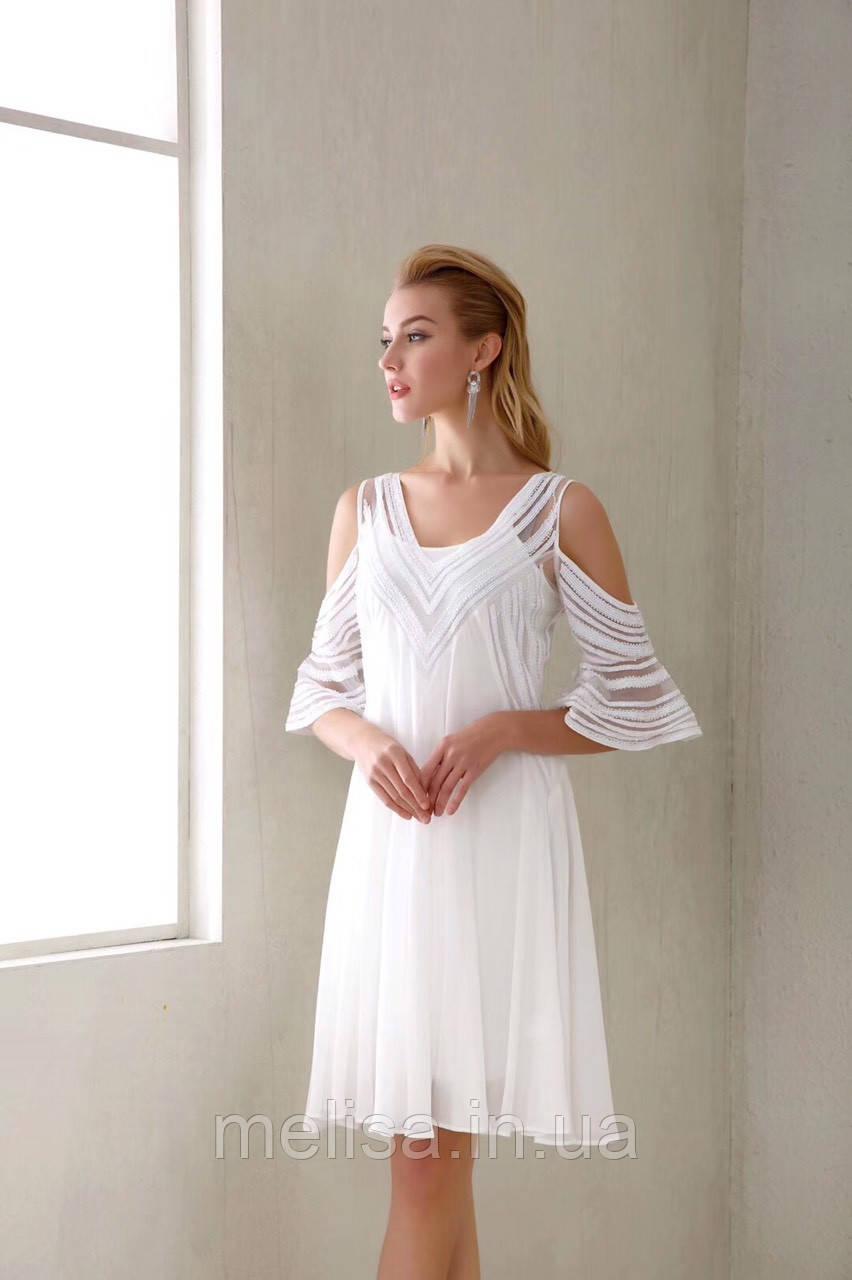 7bec7ee6da7 Купить Белое платье с открытыми плечами Amodediosa в Украине ...