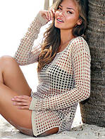 Вязаное парео, пляжная одежда, фото 1