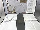 Комплект  постельного белья  жаккард ТМ Nazenin евро размер Lavida beyaz, фото 2