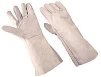 Перчатки-краги серые ПЦ