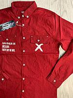 Рубашка с длинным рукавом для мальчика 152-176см