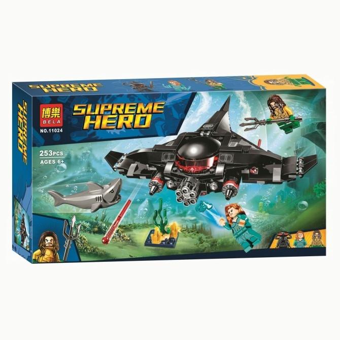 """Конструктор Bela 11024 """"Аквамен: Чёрная Манта наносит удар"""" (аналог Lego Super Heroes 76095), 253 дет"""