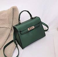 Маленькая женская сумка из экокожи зеленая с перламутровым отливом опт, фото 1