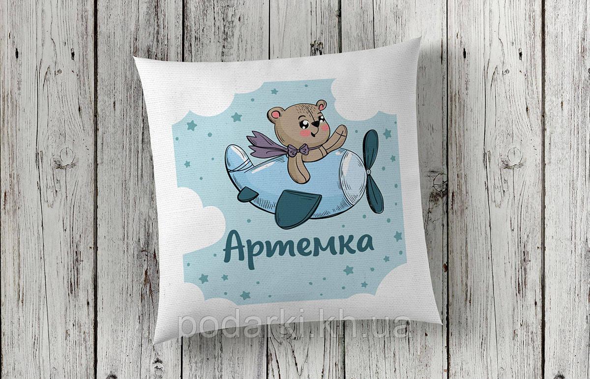 Декоративная именная подушка для ребенка