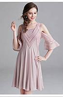 Розовое платье с открытыми плечами Amodediosa