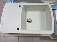 Гранитная кухонная мойка  Aquasanitа Lira SQL 101 (710- белый)