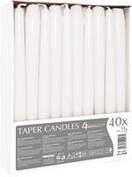Свечи белая коническая Bispol 40 шт 24,5 см оптом (5906927340005)