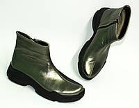 Женские демисезонные ботинки на байке, из натуральной кожи от производителя ТМ ARRA, фото 1