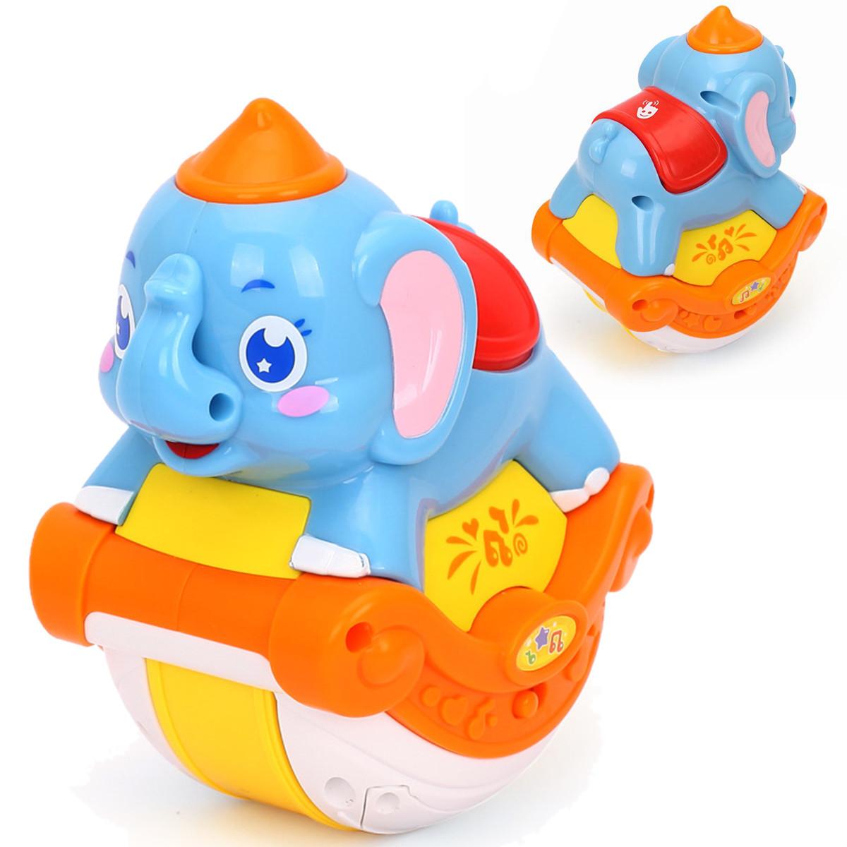 Детская игрушка качающаяся Huile Toys Музыкальный слоник (3105ABC-C)