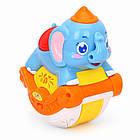 Детская игрушка качающаяся Huile Toys Музыкальный слоник (3105ABC-C), фото 5