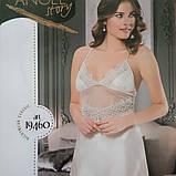 Атласна нічна сорочка з мереживом, Angel Story, фото 4