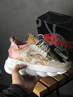 Кроссовки Versace Chain Reaction White Pink