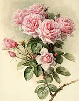 Алмазная вышивка Семейные розы в саду 45 х 30 см (арт. FS890) квадратные камни, фото 1