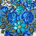 Заветная мечта 1821-0, павлопосадский платок шерстяной  с осыпкой (оверлоком), фото 3
