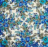 Заветная мечта 1821-0, павлопосадский платок шерстяной  с осыпкой (оверлоком), фото 4