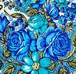 Заветная мечта 1821-0, павлопосадский платок шерстяной  с осыпкой (оверлоком), фото 6