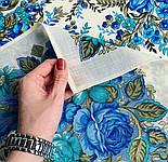 Заветная мечта 1821-0, павлопосадский платок шерстяной  с осыпкой (оверлоком), фото 7