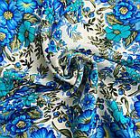 Заветная мечта 1821-0, павлопосадский платок шерстяной  с осыпкой (оверлоком), фото 5