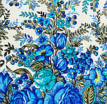 Заветная мечта 1821-0, павлопосадский платок шерстяной  с осыпкой (оверлоком), фото 8
